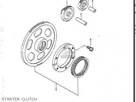 Suzuki Vs700 Glf  Glp  Glef  Glep 1986-1987 usa Starter Clutch