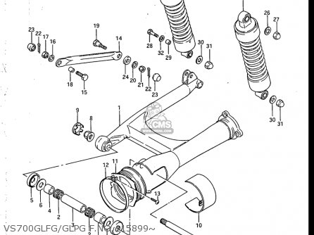 Suzuki Vs700 Glf  Glp  Glef  Glep 1986-1987 usa Vs700glfg glpg F no 115899~