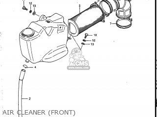Suzuki Vs700glef Intruder 1986 g Usa e03 Air Cleaner front