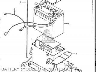 Suzuki Vs700glef Intruder 1986 g Usa e03 Battery model G ~f no 111193