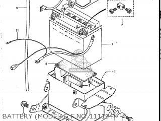 Suzuki Vs700glef Intruder 1986 g Usa e03 Battery model G F no 111194~