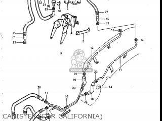 Suzuki Vs700glef Intruder 1986 g Usa e03 Canister for California