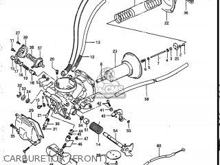 Suzuki Vs700glef Intruder 1986 g Usa e03 Carburetor front
