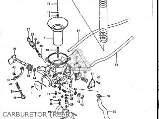 Suzuki Vs700glef Intruder 1986 g Usa e03 Carburetor rear