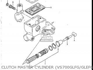 Suzuki Vs700glef Intruder 1986 g Usa e03 Clutch Master Cylinder vs700glfg glefg glfh glefh