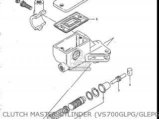 Suzuki Vs700glef Intruder 1986 g Usa e03 Clutch Master Cylinder vs700glpg glepg glph gleph