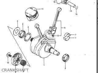 Suzuki Vs700glef Intruder 1986 g Usa e03 Crankshaft