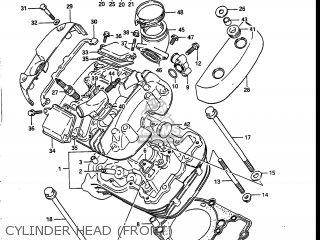 Suzuki Vs700glef Intruder 1986 g Usa e03 Cylinder Head front