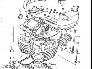 Suzuki Vs700glef Intruder 1986 g Usa e03 Cylinder Head rear