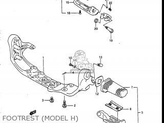 Suzuki Vs700glef Intruder 1986 g Usa e03 Footrest model H