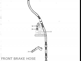 Suzuki Vs700glef Intruder 1986 g Usa e03 Front Brake Hose