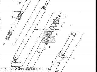 Suzuki Vs700glef Intruder 1986 g Usa e03 Front Fork model H