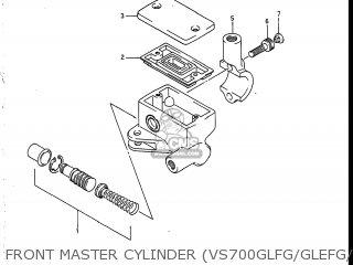 Suzuki Vs700glef Intruder 1986 g Usa e03 Front Master Cylinder vs700glfg glefg glfh glefh