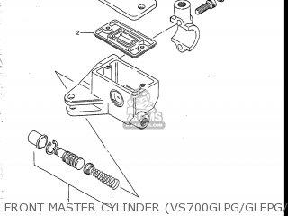Suzuki Vs700glef Intruder 1986 g Usa e03 Front Master Cylinder vs700glpg glepg glph gleph