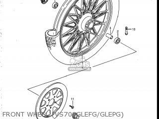 Suzuki Vs700glef Intruder 1986 g Usa e03 Front Wheel vs700glefg glepg