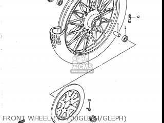 Suzuki Vs700glef Intruder 1986 g Usa e03 Front Wheel vs700glefh gleph