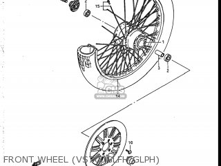 Suzuki Vs700glef Intruder 1986 g Usa e03 Front Wheel vs700glfh glph