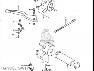 Suzuki Vs700glef Intruder 1986 g Usa e03 Handle Switch
