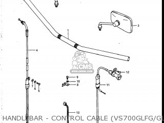 Suzuki Vs700glef Intruder 1986 g Usa e03 Handlebar - Control Cable vs700glfg glefg glfh glefh
