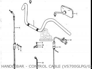Suzuki Vs700glef Intruder 1986 g Usa e03 Handlebar - Control Cable vs700glpg glepg glph gleph