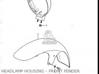 Suzuki Vs700glef Intruder 1986 g Usa e03 Headlamp Housing - Front Fender