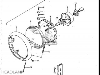 Suzuki Vs700glef Intruder 1986 g Usa e03 Headlamp