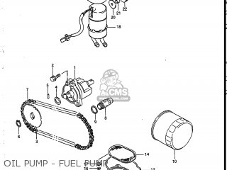 Suzuki Vs700glef Intruder 1986 g Usa e03 Oil Pump - Fuel Pump