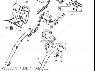 Suzuki Vs700glef Intruder 1986 g Usa e03 Pillion Rider Handle