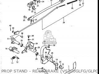 Suzuki Vs700glef Intruder 1986 g Usa e03 Prop Stand - Rear Brake vs700glfg glpg ~f no 115898