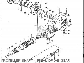 Suzuki Vs700glef Intruder 1986 g Usa e03 Propeller Shaft - Final Drive Gear