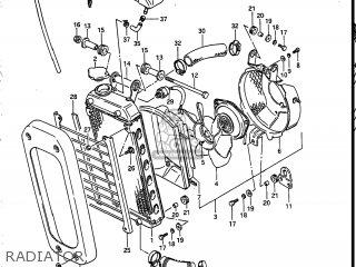 Suzuki Vs700glef Intruder 1986 g Usa e03 Radiator