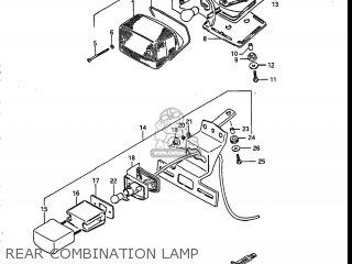Suzuki Vs700glef Intruder 1986 g Usa e03 Rear Combination Lamp