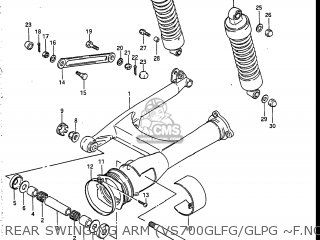 Suzuki Vs700glef Intruder 1986 g Usa e03 Rear Swinging Arm vs700glfg glpg ~f no 115898