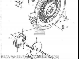 Suzuki Vs700glef Intruder 1986 g Usa e03 Rear Wheel vs700glefg glepg