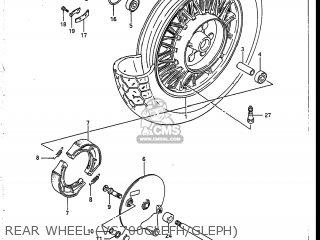 Suzuki Vs700glef Intruder 1986 g Usa e03 Rear Wheel vs700glefh gleph