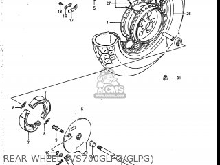 Suzuki Vs700glef Intruder 1986 g Usa e03 Rear Wheel vs700glfg glpg