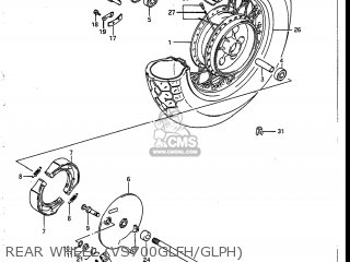 Suzuki Vs700glef Intruder 1986 g Usa e03 Rear Wheel vs700glfh glph