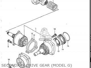 Suzuki Vs700glef Intruder 1986 g Usa e03 Secondary Drive Gear model G