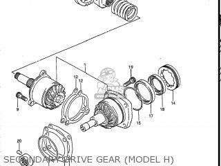 Suzuki Vs700glef Intruder 1986 g Usa e03 Secondary Drive Gear model H