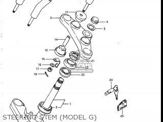 Suzuki Vs700glef Intruder 1986 g Usa e03 Steering Stem model G