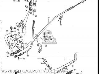 Suzuki Vs700glef Intruder 1986 g Usa e03 Vs700glfg glpg F no 115899~