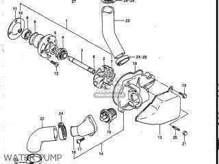 Suzuki Vs700glef Intruder 1986 g Usa e03 Water Pump