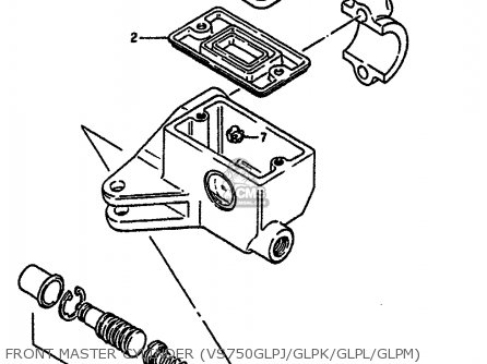 Suzuki Vs750glp 1986 G E02 E04 E15 E16 E17 E18 E21 E22 E25 E34