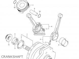 Suzuki Vz1500 Boulevard M90 2009 k9 Usa California e03 E33 Crankshaft
