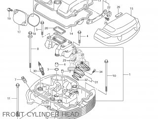 Suzuki Vz1500 Boulevard M90 2009 k9 Usa California e03 E33 Front Cylinder Head