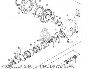 Suzuki Vz1500 Boulevard M90 2009 k9 Usa California e03 E33 Propeller Shaft final Drive Gear