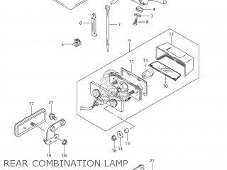 Suzuki Vz1500 Boulevard M90 2009 k9 Usa California e03 E33 Rear Combination Lamp