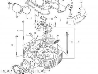 Suzuki Vz1500 Boulevard M90 2009 k9 Usa California e03 E33 Rear Cylinder Head