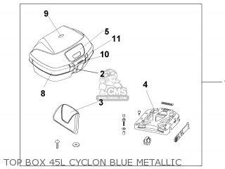 TOP BOX 45L CYCLON BL