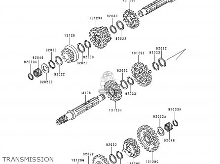 Shaft-transmission In photo